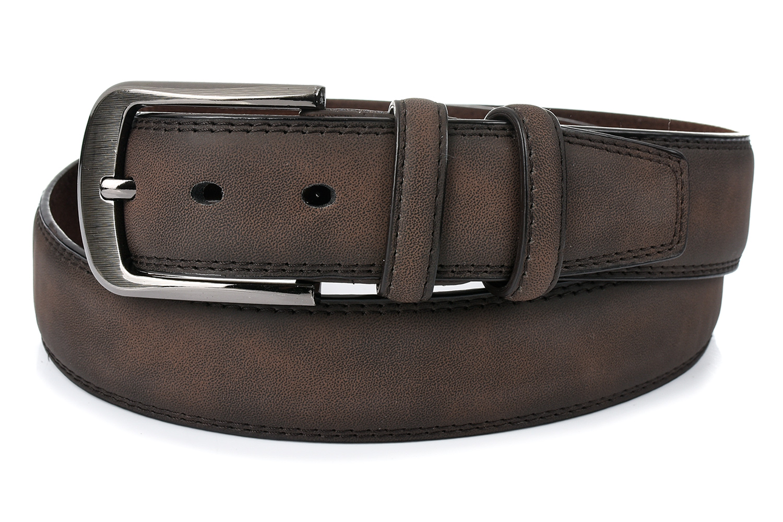 Greenwood C34 Pánsky kožený opasok 115 cm hnedý