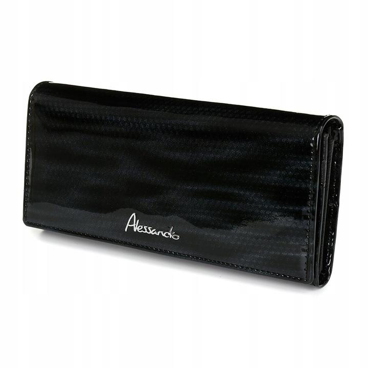 Alessandro Paoli Z22 Dámska kožená peňaženka RFID čierna