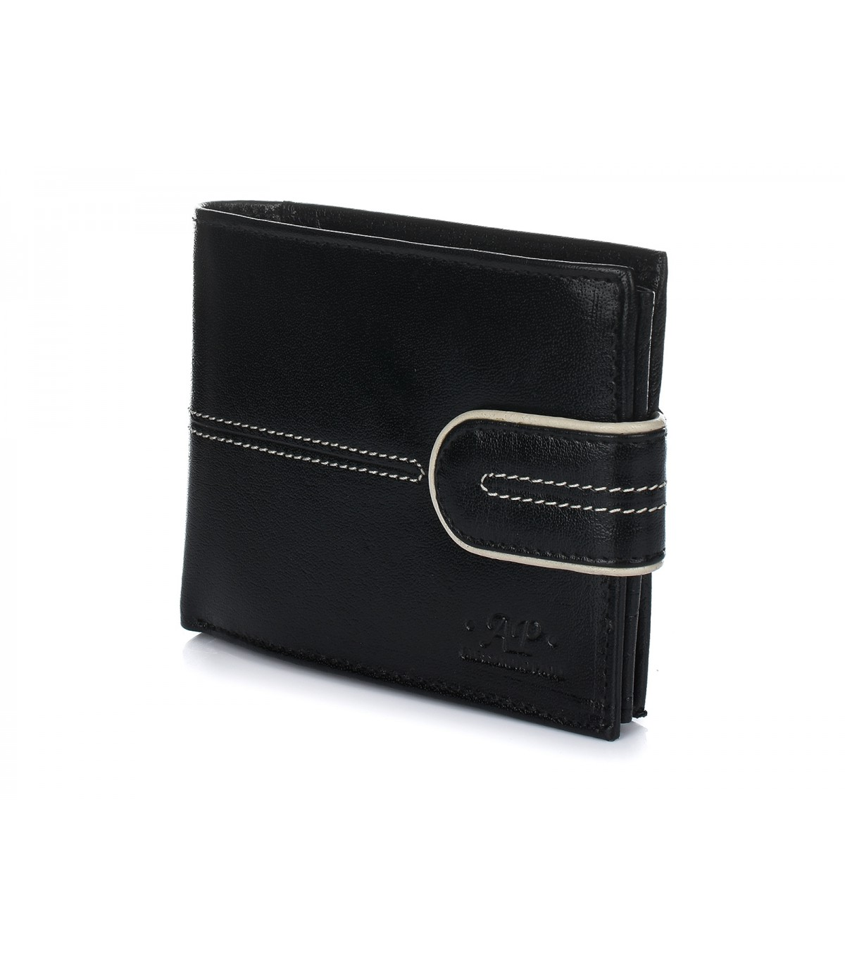Alessandro Paoli K60 Pánska kožená peňaženka RFID čierna