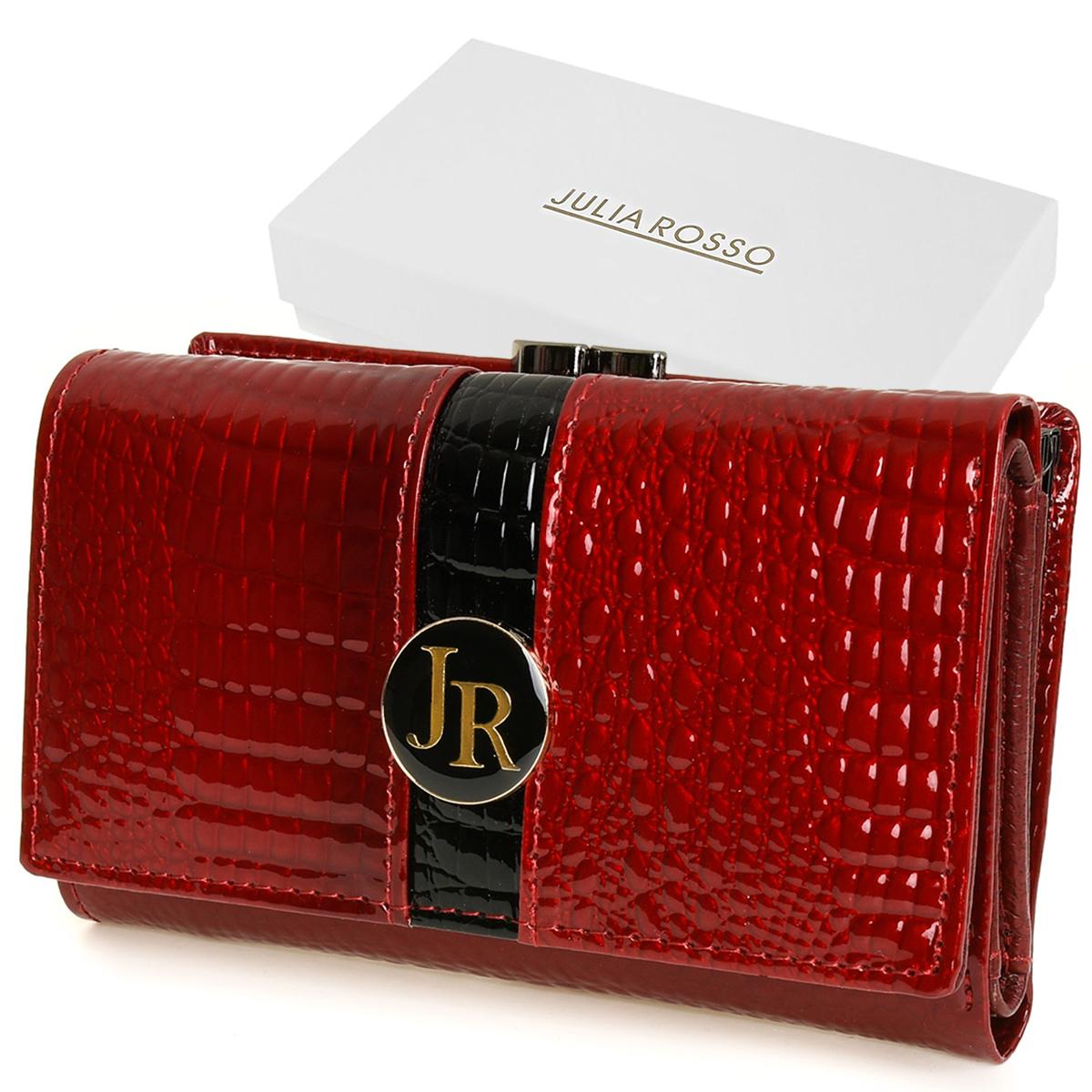 Julia Rosso T77 Dámska kožená peňaženka RFID červená