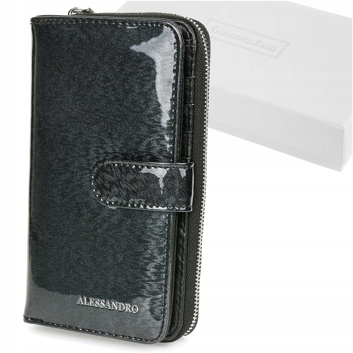 Alessandro Paoli G54 Dámska kožená peňaženka RFID čierna
