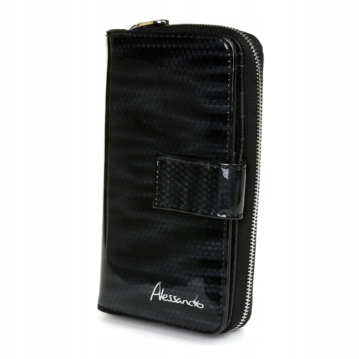 Alessandro Paoli Z19 Dámska kožená peňaženka RFID čierna