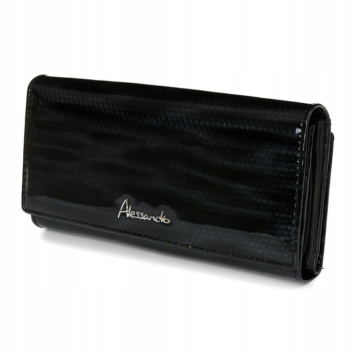 Alessandro Paoli Z23 Dámska kožená peňaženka RFID čierna