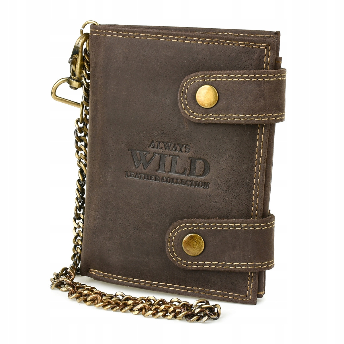 Always Wild Z47 Pánska kožená peňaženka RFID hnedá