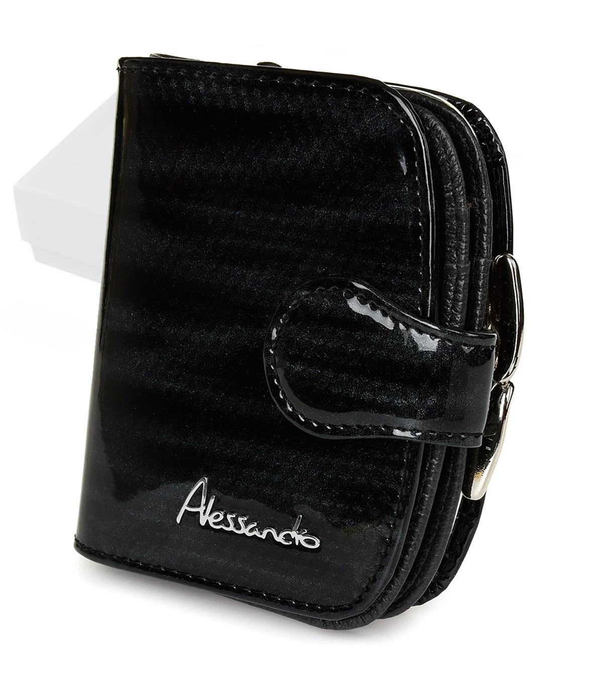 Alessandro Paoli Z15 Dámska kožená peňaženka čierna