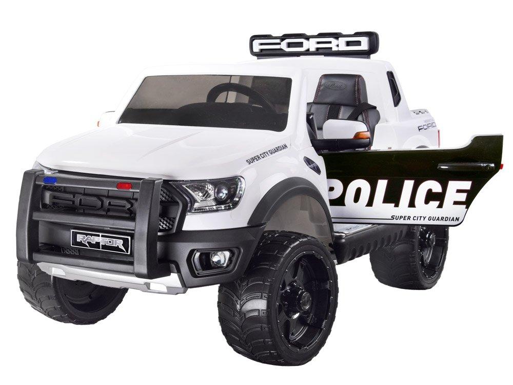 Joko PA0225 BI Elektrické autíčko Ford Ranger Raptor Policajné 4x4 bielej