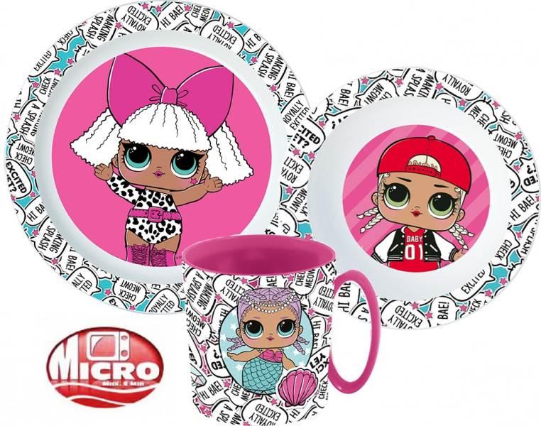 Javoli Detská jedálenská súprava Micro LOL Surprise 3-dielna