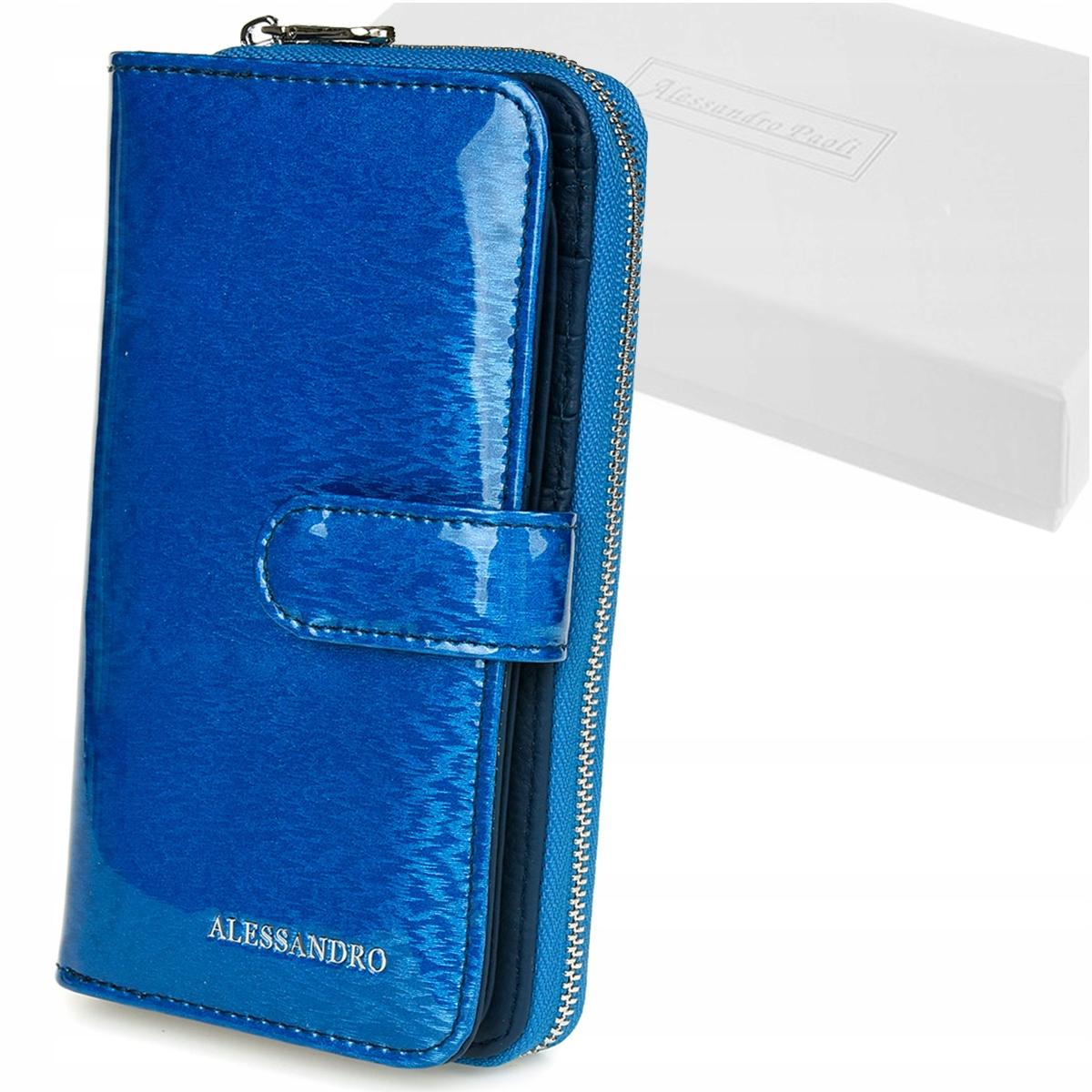 Alessandro Paoli G54 Dámska kožená peňaženka RFID modrá