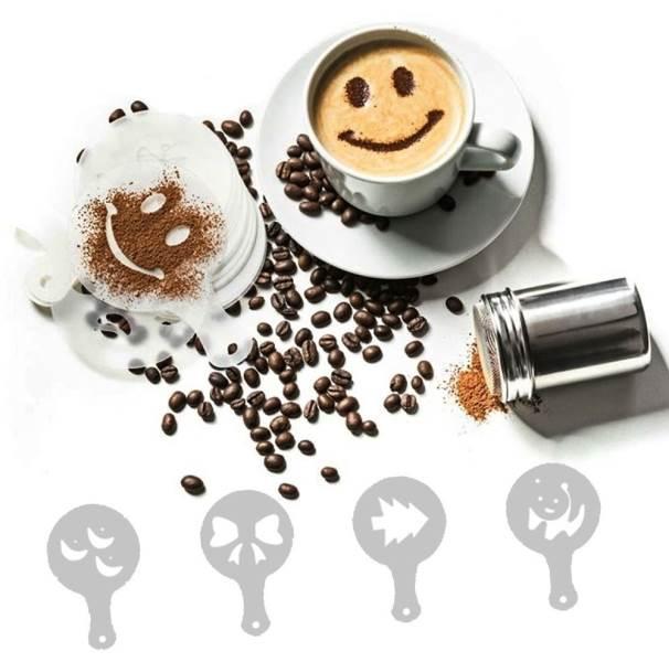 GFT Šablóny na zdobenie kávy 16ks
