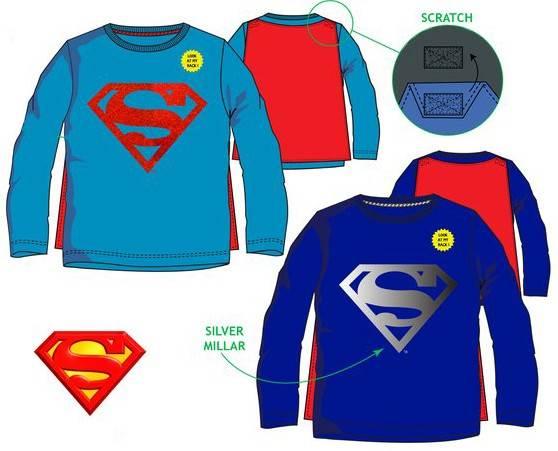 Javoli Detské tričko dlhý rukáv Superman s plášťom vel. 98 tmavo modré