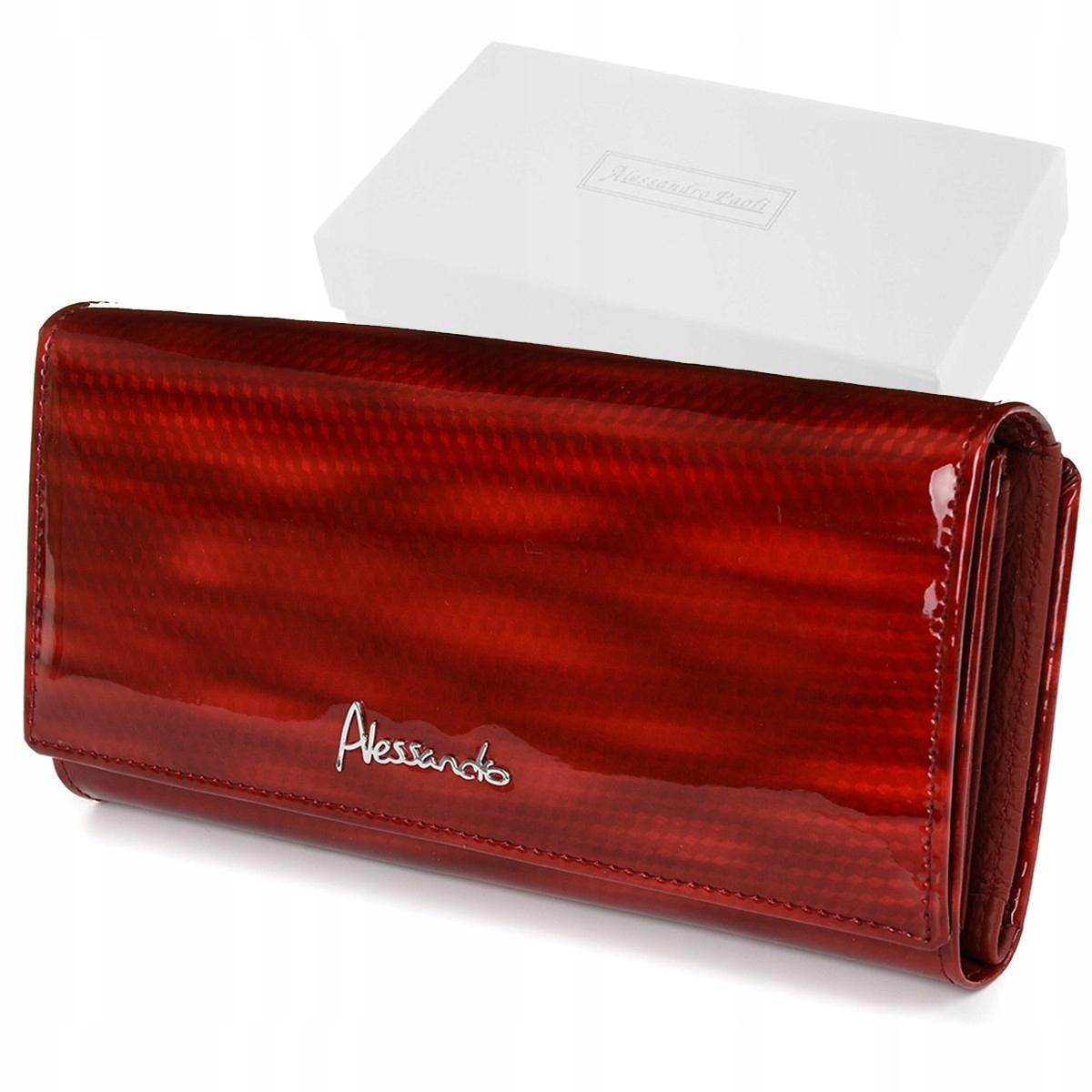 Alessandro Paoli Z20 Dámska kožená peňaženka RFID červená