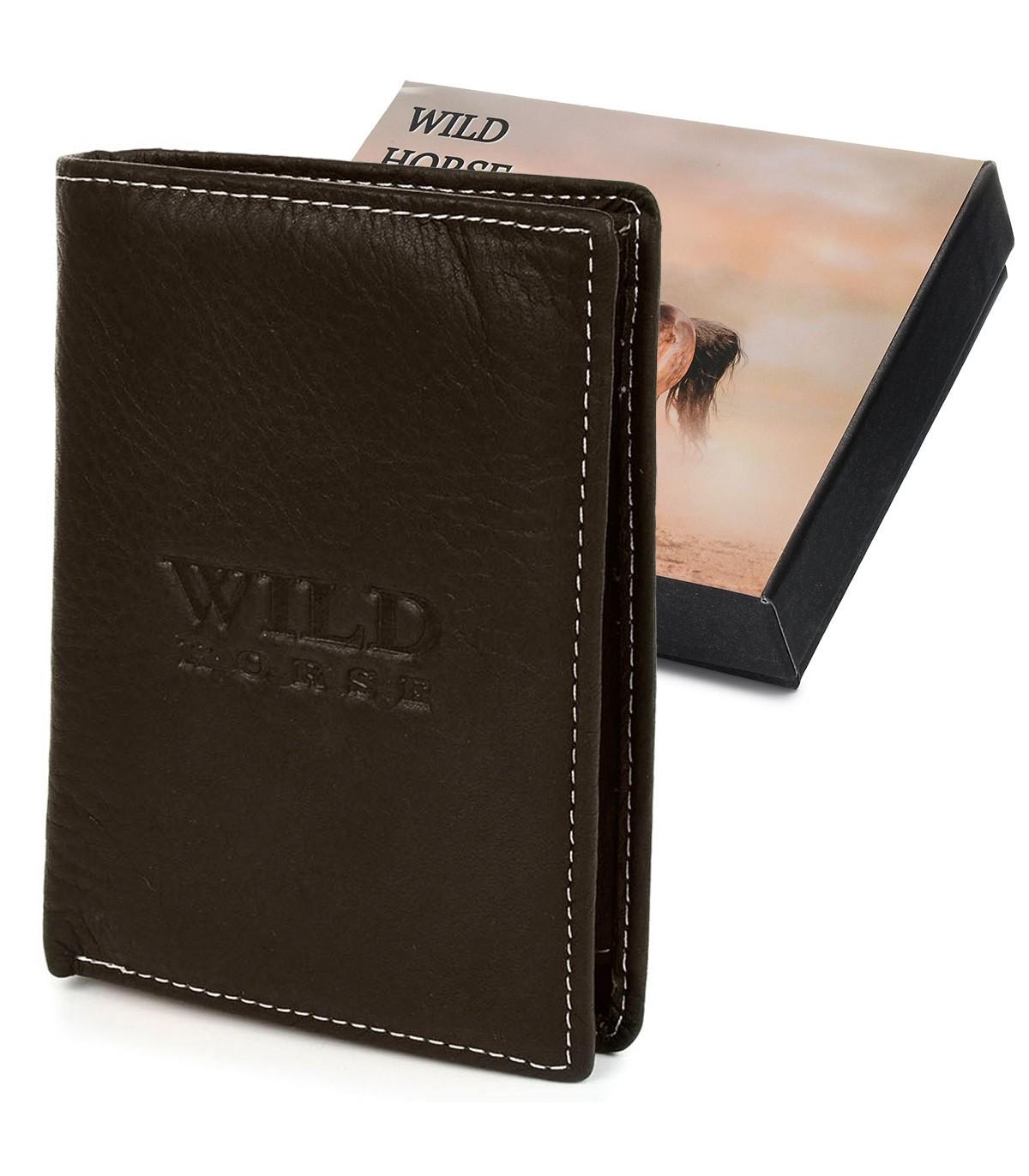 Wild Horse I45 Pánska kožená peňaženka RFID tmavo hnedá