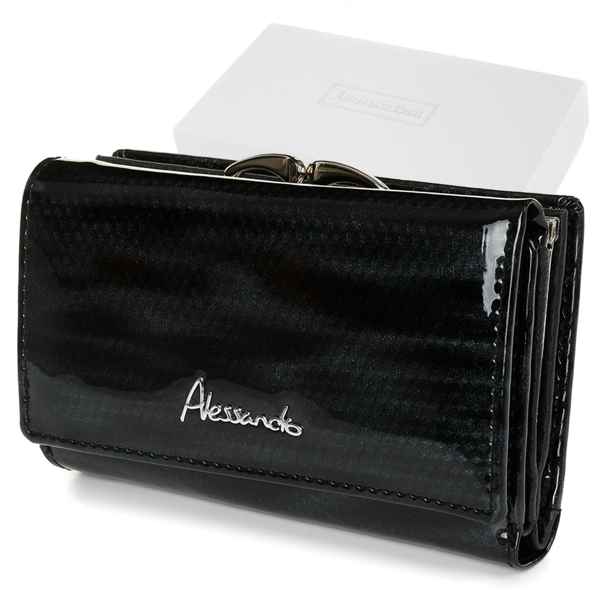 Alessandro Paoli Z21 Dámska kožená peňaženka RFID čierna