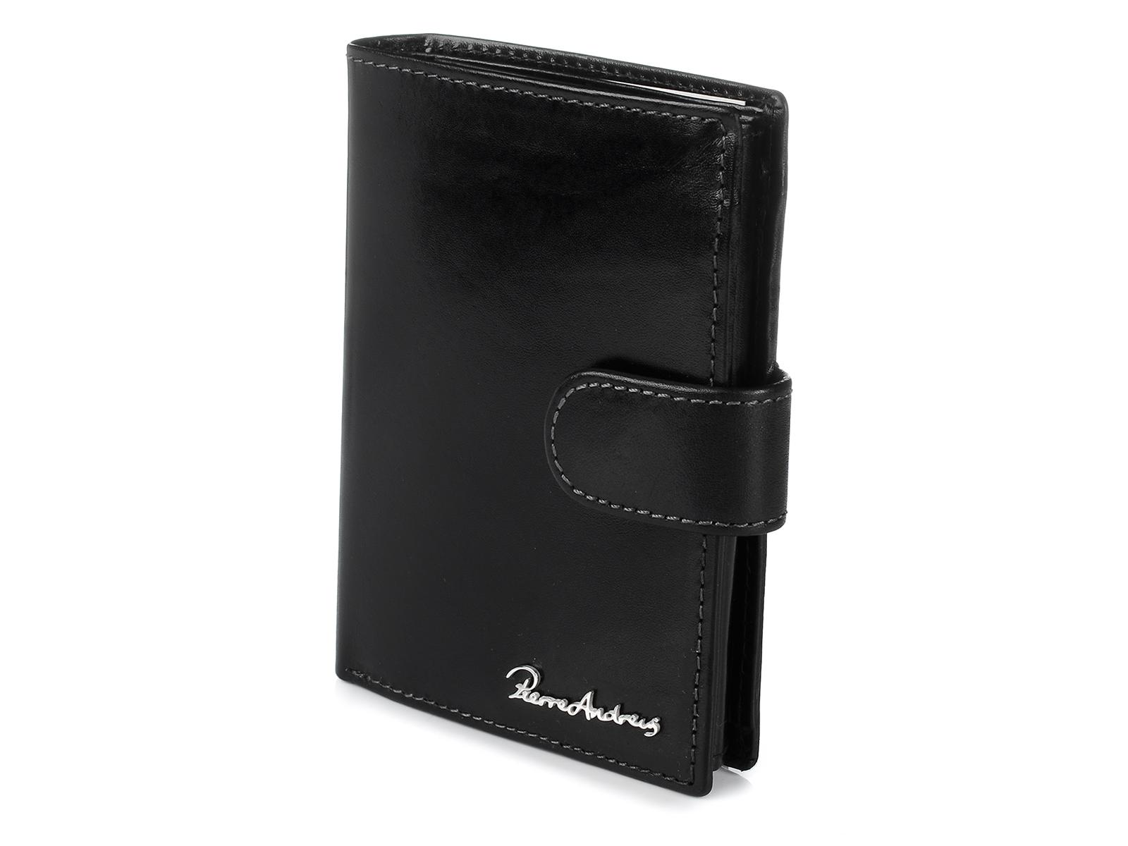 Pierre Andreus W78 Pánska kožená peňaženka RFID čierna