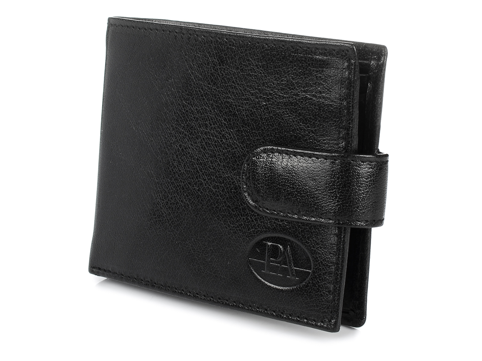 Pierre Andreus W80 Pánska kožená peňaženka RFID čierna