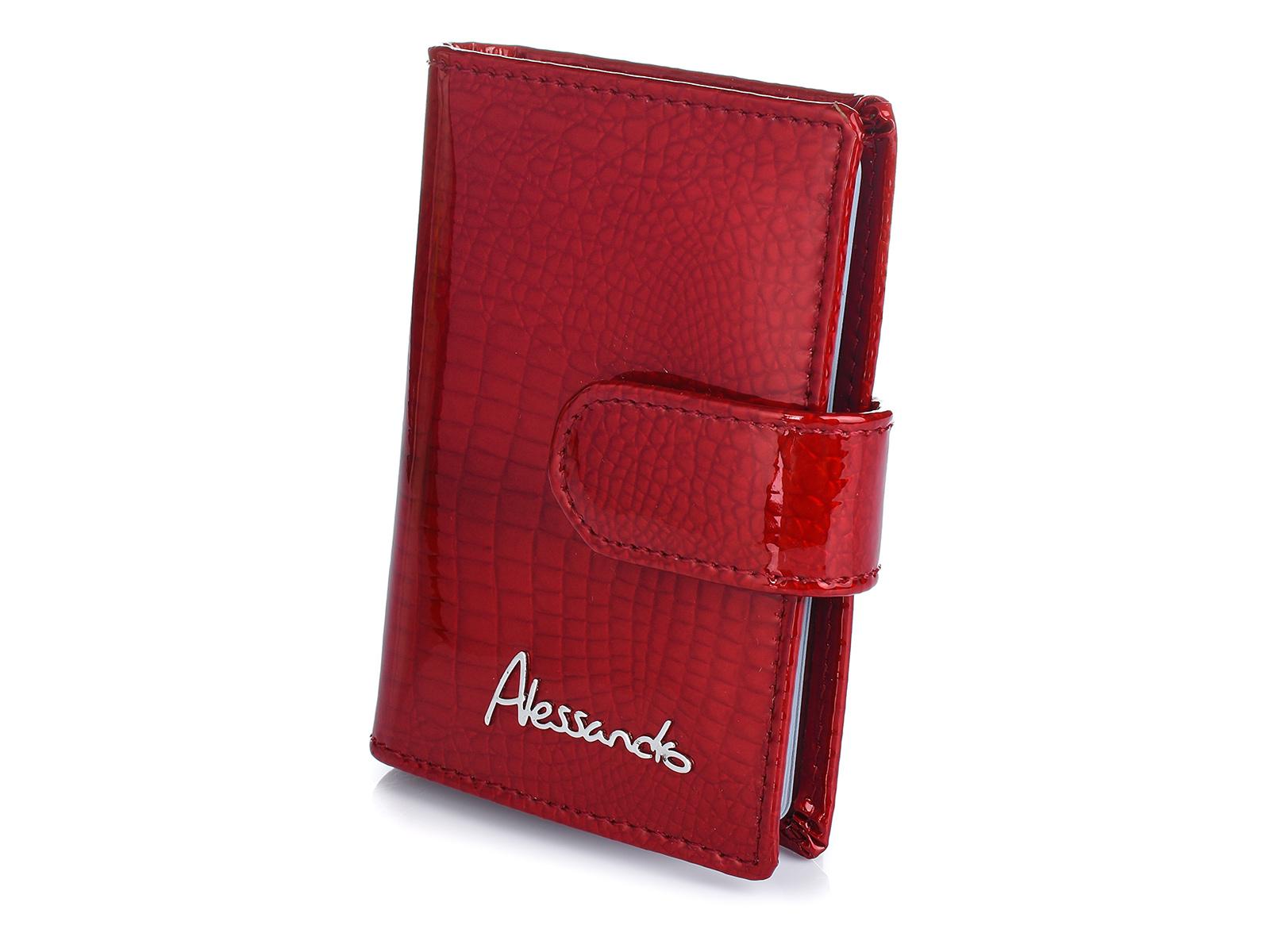 Alessandro Paoli G33 Kožené púzdro na doklady, karty a vizitky červenej