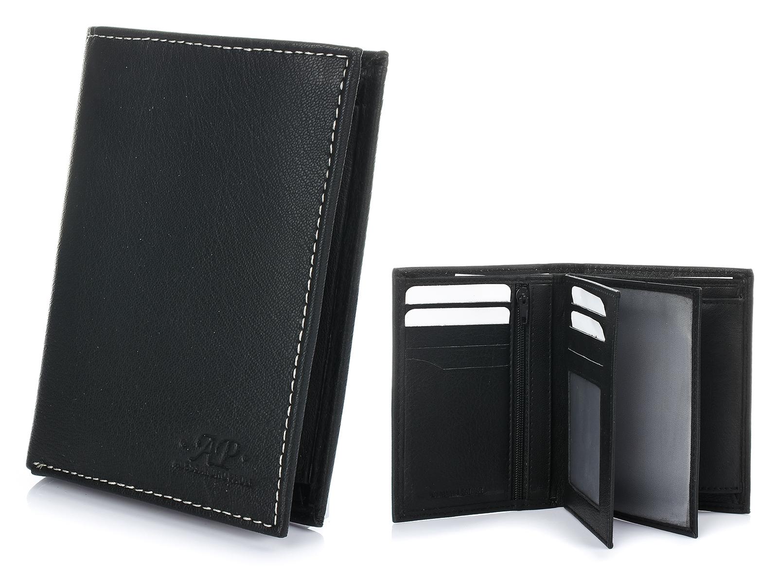 Alessandro Paoli K56 Pánska kožená peňaženka čierna