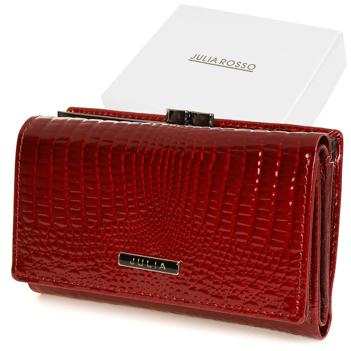 Julia Rosso F62 Dámska kožená peňaženka červená
