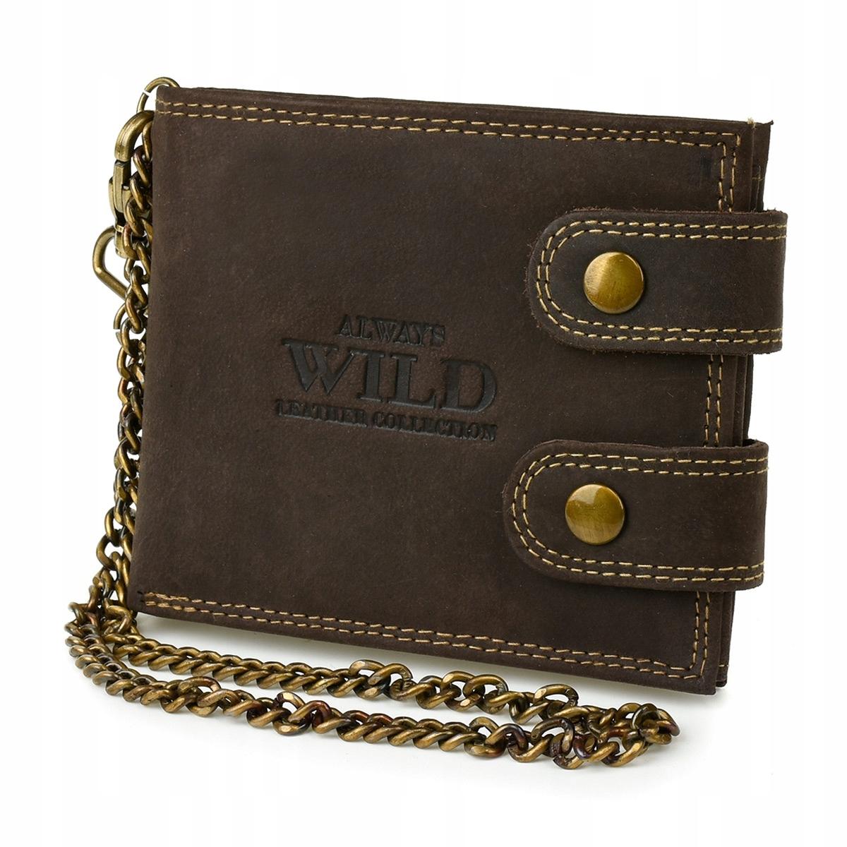Always Wild Z49 Pánska kožená peňaženka RFID hnedá