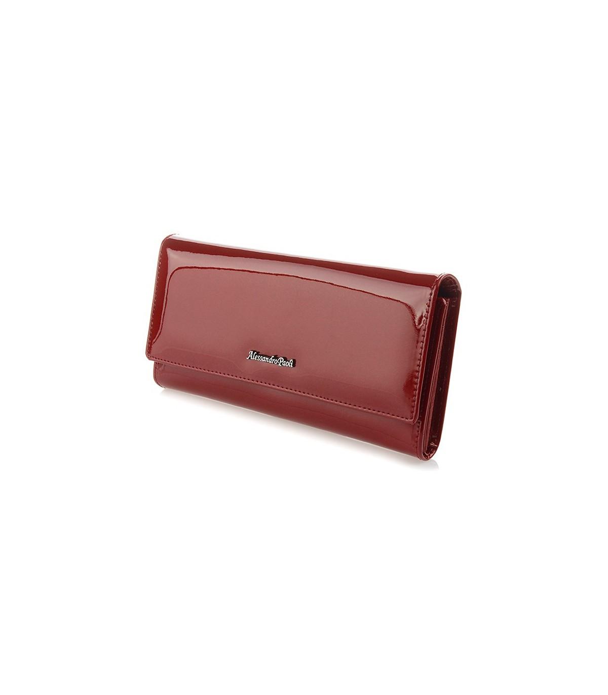 Alessandro Paoli L20 Dámska kožená peňaženka červená