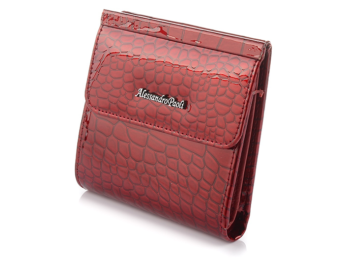 Alessandro Paoli V29 Dámska kožená peňaženka červená