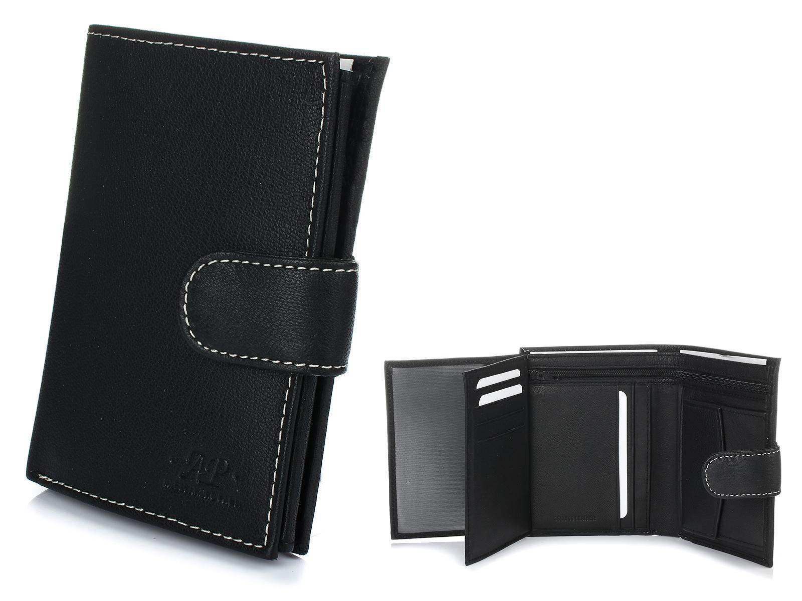 Alessandro Paoli K49 Pánska kožená peňaženka čierna