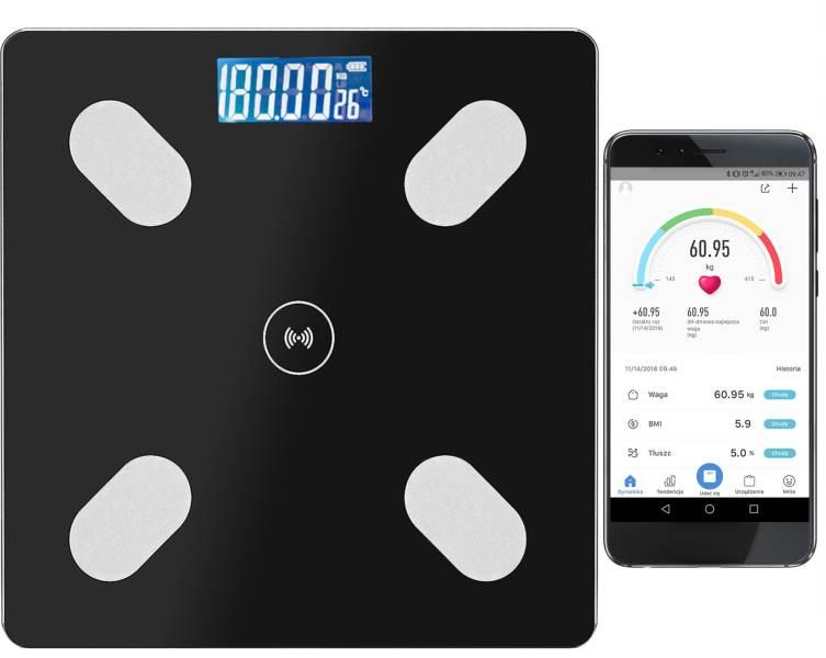 Malatec 9993 Analytická osobné váha Bluetooth 180 kg