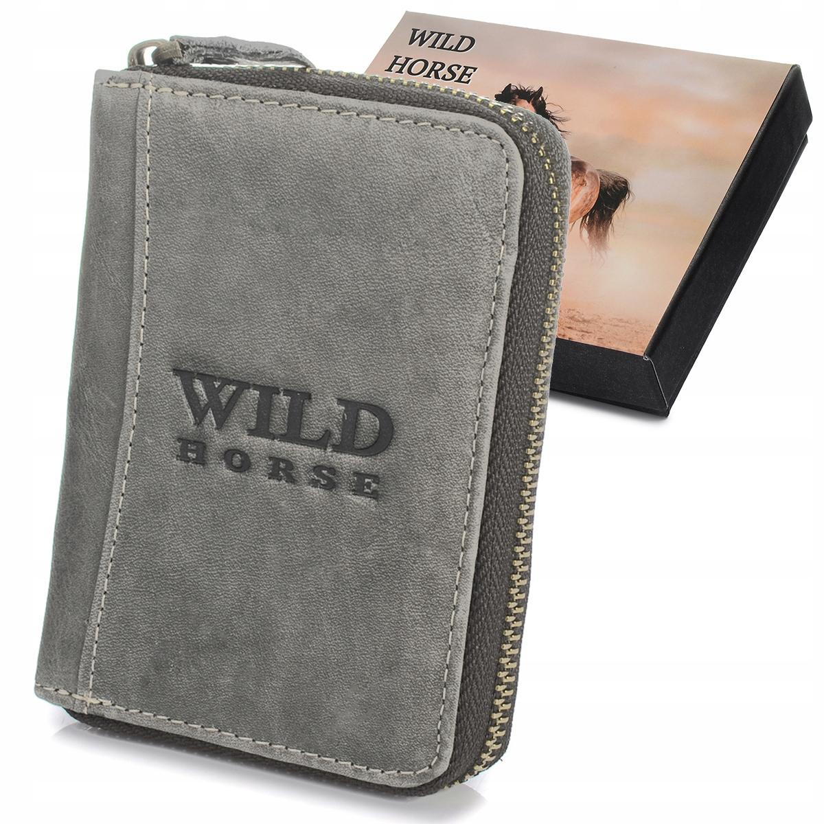 Wild Horse G71 Pánska kožená peňaženka RFID šedá