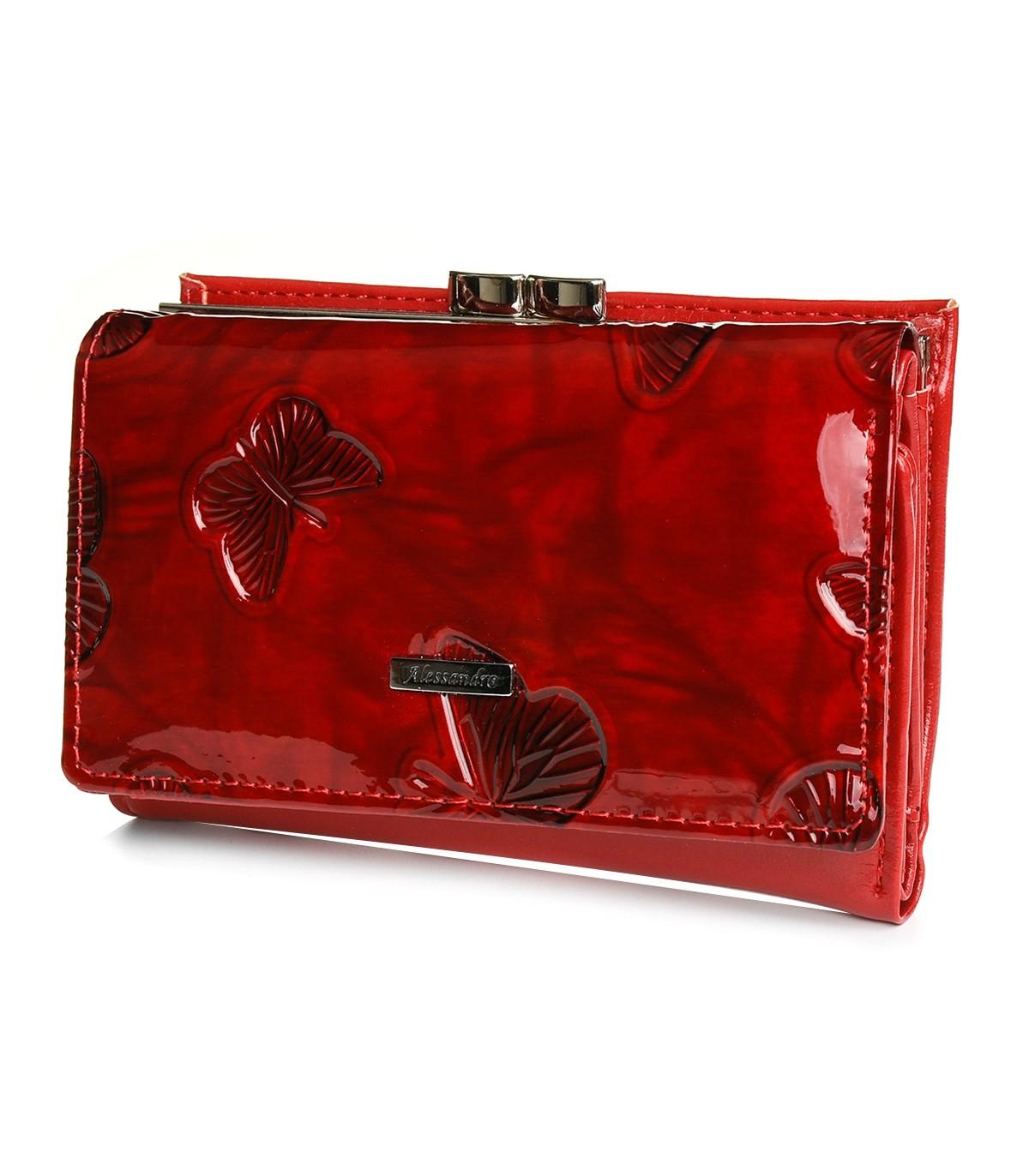 Alessandro Paoli S22 Dámska kožená peňaženka červená