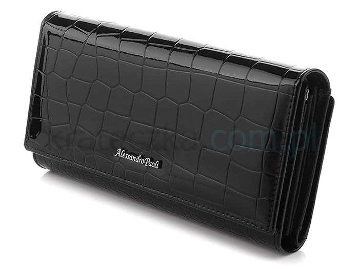 Alessandro Paoli P65 Dámska kožená peňaženka čierna