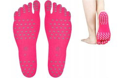 Nakefit 5860 Samolepící ochrana chodidla XL růžová