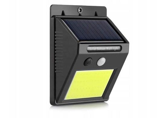 ISO 8814 Solárne vonkajšie 48 LED COB osvetlenie s pohybovým senzorom