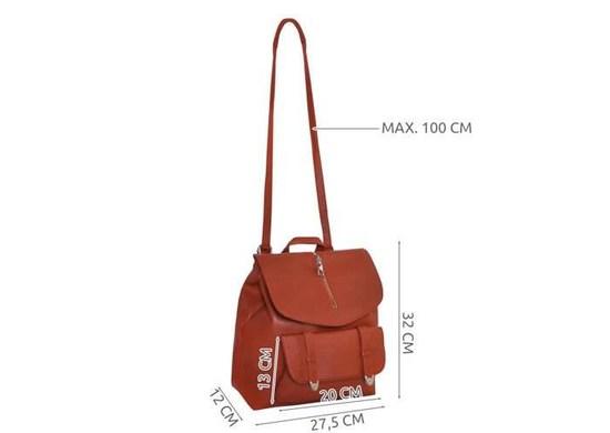 ISO 8909 Dámsky mestský batoh 2v1 hnedá