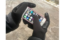 GFT Dotykové rukavice L čierna