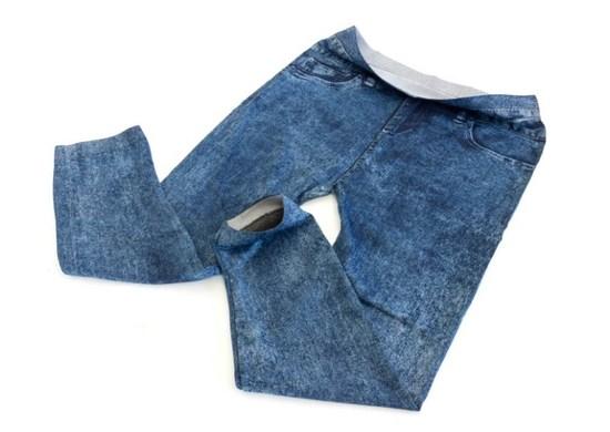 APT Dámske legíny 3/4 Jeans modré S / M