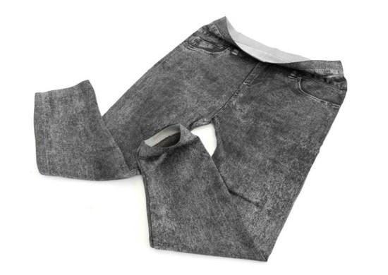 APT Dámske legíny 3/4 Jeans čierne S / M