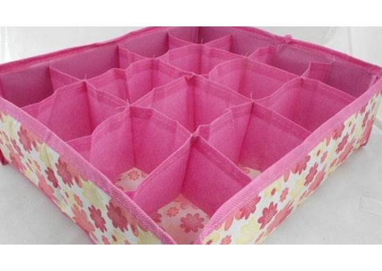 ISO Organizer do zásuvky na bielizeň ružový - 12 priehradiek