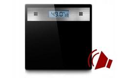 Verk 17090 Digitální osobní váha skleněná LCD 180Kg/100g černá