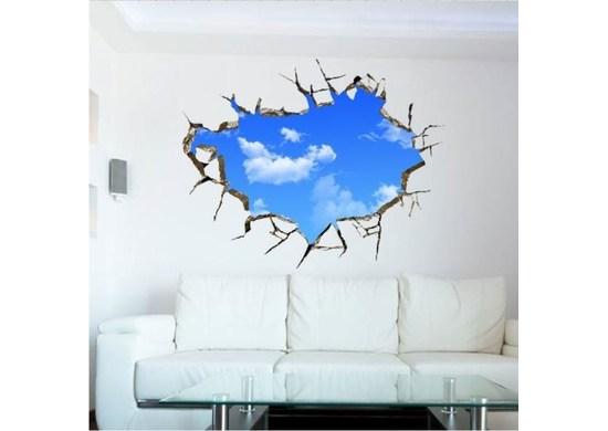 APT 3D nálepka na stenu obloha