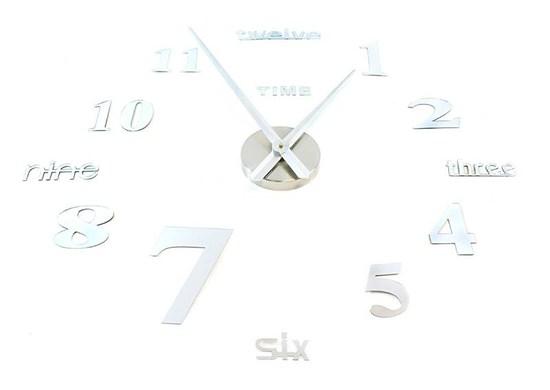 APT Dizajnové 3D nalepovacie hodiny 100cm