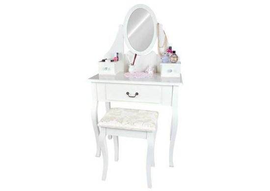Malatec DT-1188 Biely toaletný stolík so stoličkou a zrkadlom