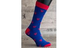 Happy Veselé ponožky Kráľovská koruna vel. 41-46 modré