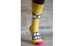 Happy Veselé ponožky Zuby vel. 41-46 žlté