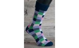 Happy Veselé ponožky Kárová farebné vel. 36 - 40 II