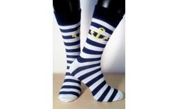 Happy Veselé ponožky Prúžok Kotva vel. 41 - 46 modrobiele