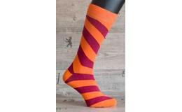 Happy Veselé ponožky Prúžok vel. 41 - 46 oranžovočervené