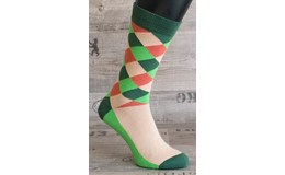 Happy Veselé ponožky Kárová vel. 36- 40 zelenobéžové
