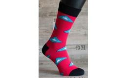 Happy Veselé ponožky Trojuholník vel .. 41 - 46 červené