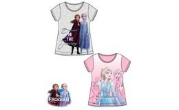 Javoli Detské tričko krátky rukáv Frozen veľ. 104 sivé