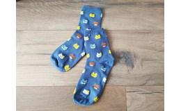 GFT Ponožky s mačičkami - šedé